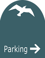 Downtown Manhattan Beach parking sign designed by William R. Hicks