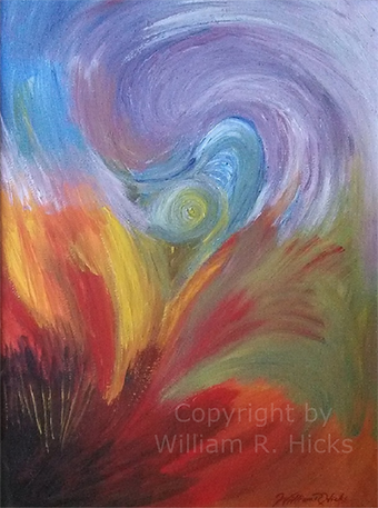 """""""Spirit Movement"""" painting by William R. Hicks for Elise"""