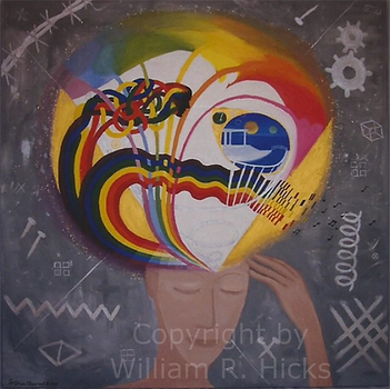 """""""Visions & Ideals"""" painting by William R. Hicks for clients"""