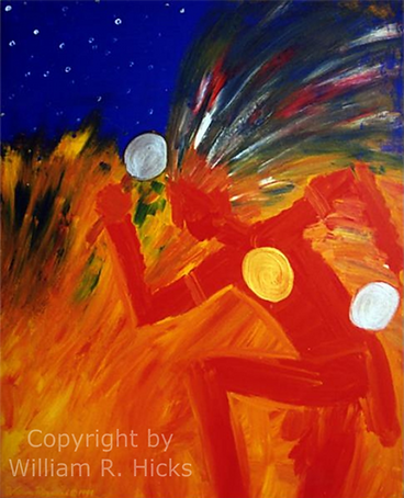 """""""Prosperity Dance"""" painting by William R. Hicks for a friend"""