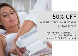 50% OFF Your First Criocuum Treatment
