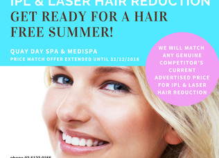 Get ready for a hair free summer at Quay Day Spa!