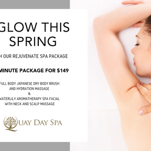 GLOW THIS SPRING with our Rejuvenate Spa package