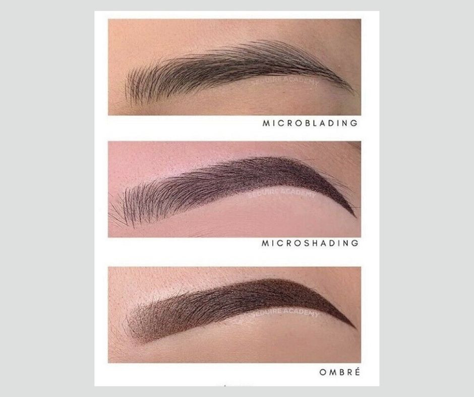 Difference between Microblading, microshading and ombre