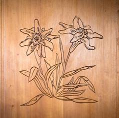 Bedoom door carving