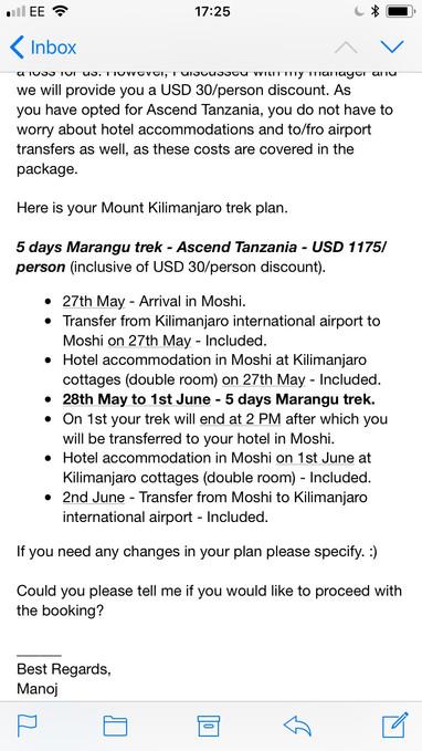Kilimanjaro booking + Spartan Race