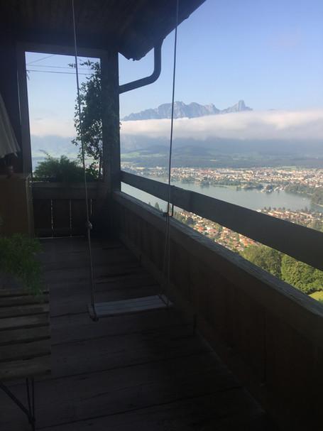 Matterhorn and Mont Blanc