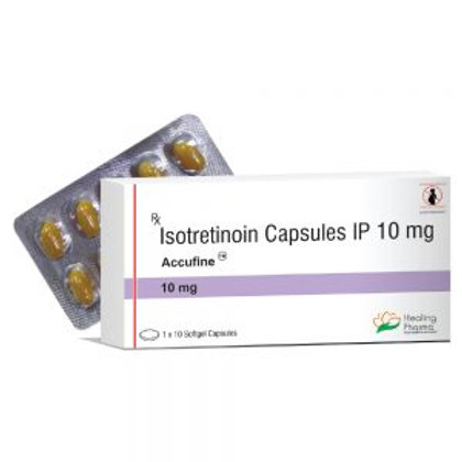 Accufine 10mg (isotretinoin) -100 capsules