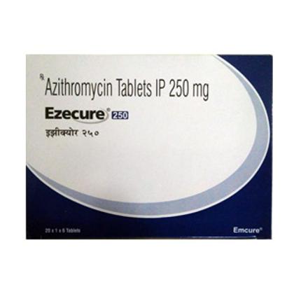Azithromycin 250mg (Ezecure) - 120 tablets