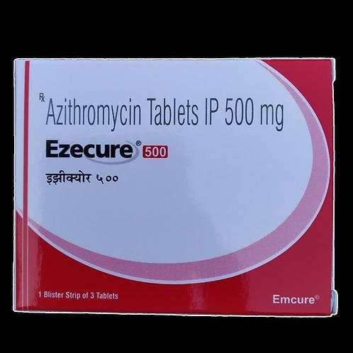Azithromycin 500mg(Ezecure) - 120 tablets