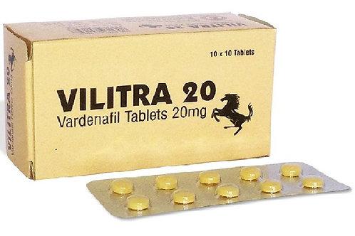 VILITRA 20mg (Vardenafil) - 50 tablets