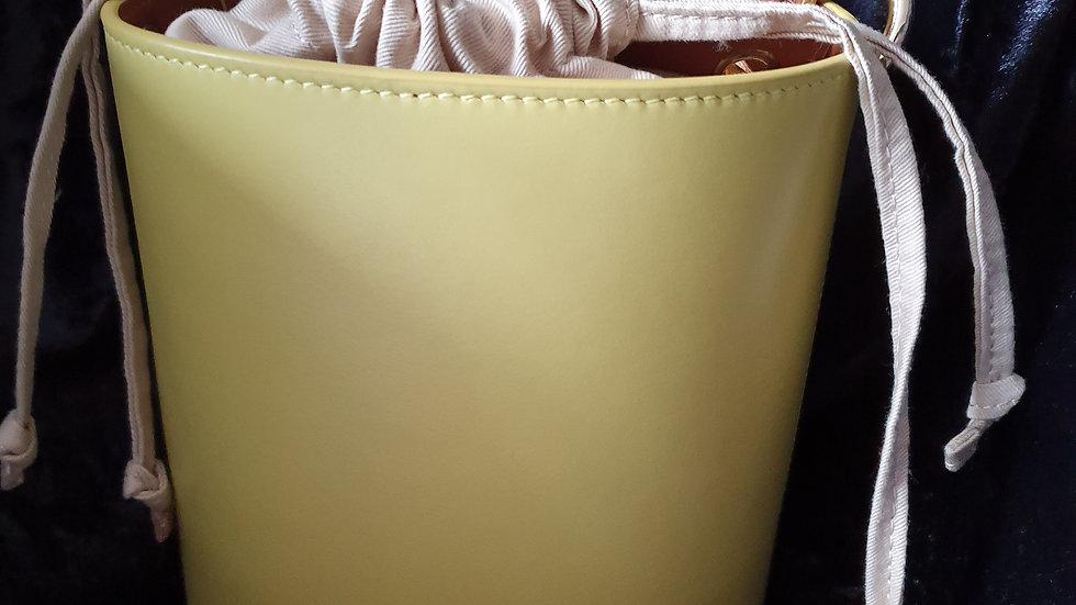 Whistles Leather Matilda Bucket Bag Yellow - RRP £160