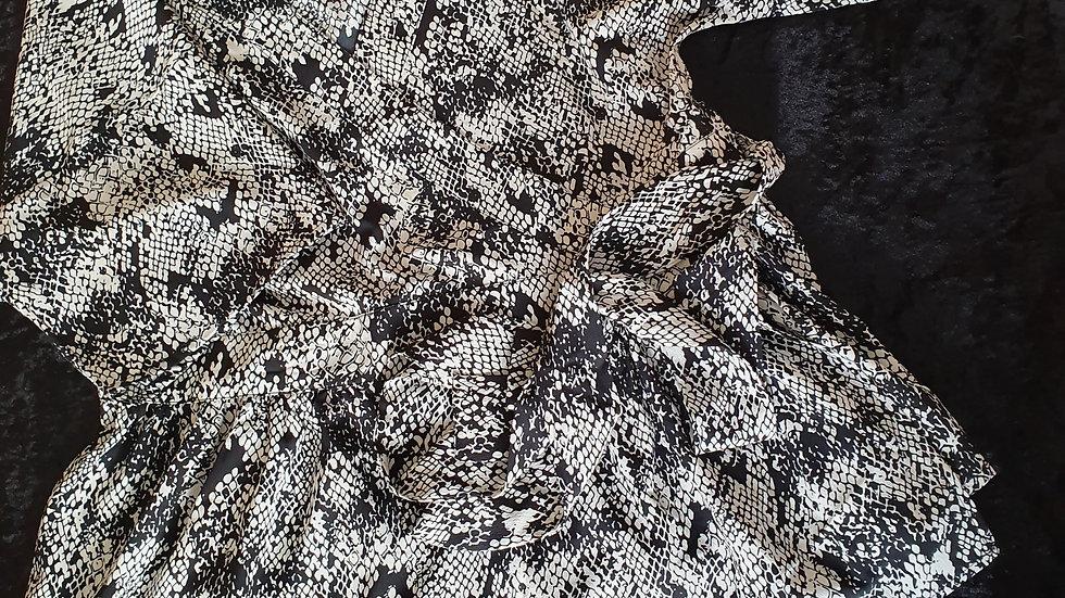Very Wrap Blouse Snake Print - RRP £28 Size's 10, 12, 14