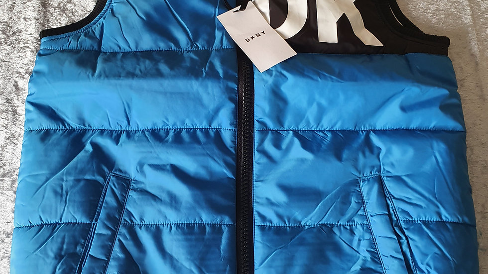 DKNY Reversible Padded Gilet Blue - RRP £90 Age12 ONLY