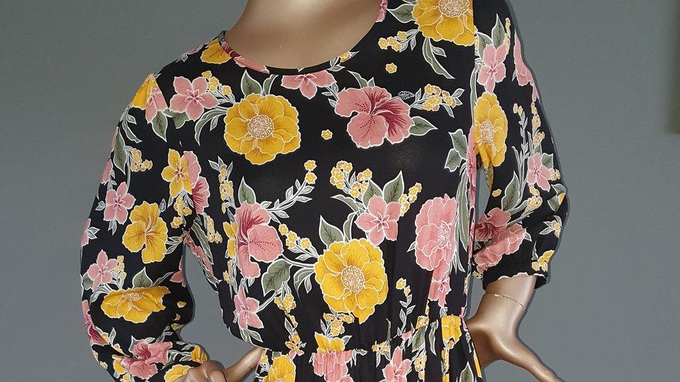 Dorothy Perkins Floral Midi Dress Suze 12 RRP £44