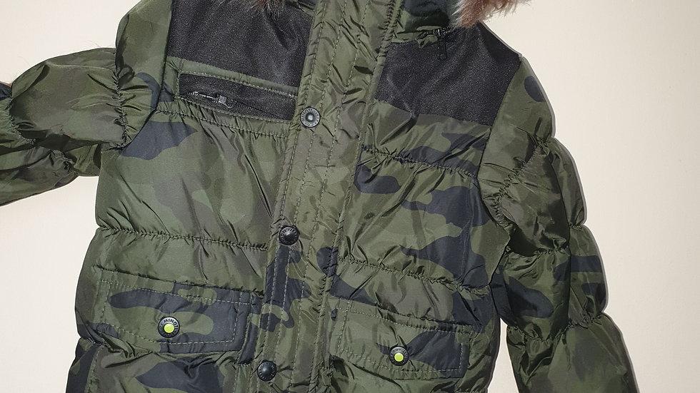 Minoti boys camouflage padded coat