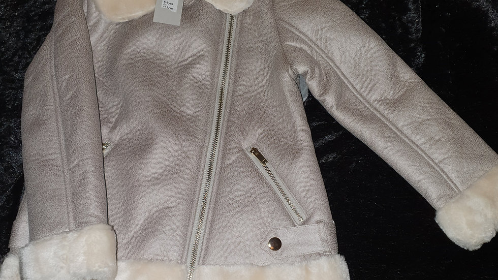 River Island Faux Fur Aviators Jacket - RRP £45 Ages 5-6, 11-12years