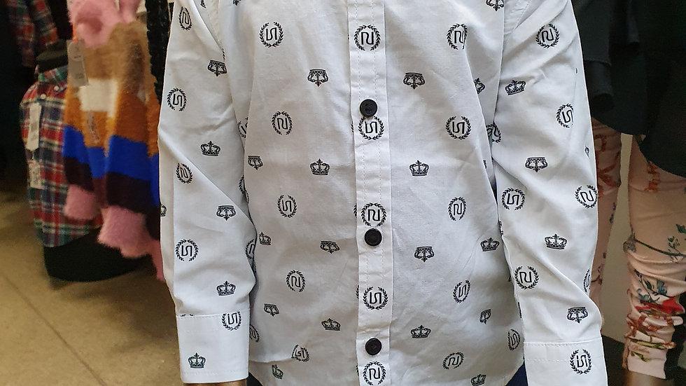 River Island Crown Print Shirt 9-12mths RRP £14