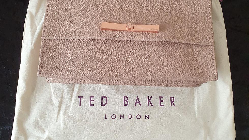 Ted Baker Jessi Pale Pink Concertina Leather Shoulder Bag RRP £229