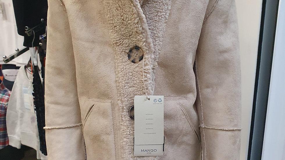 Mango Faux Shearling coat (reversible) age 4-5 RRP £50