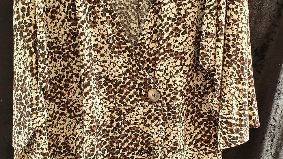 V by Very Curve Jersey Wrap Dress Animal Print - RRP £29 Size's 20, 24, 26
