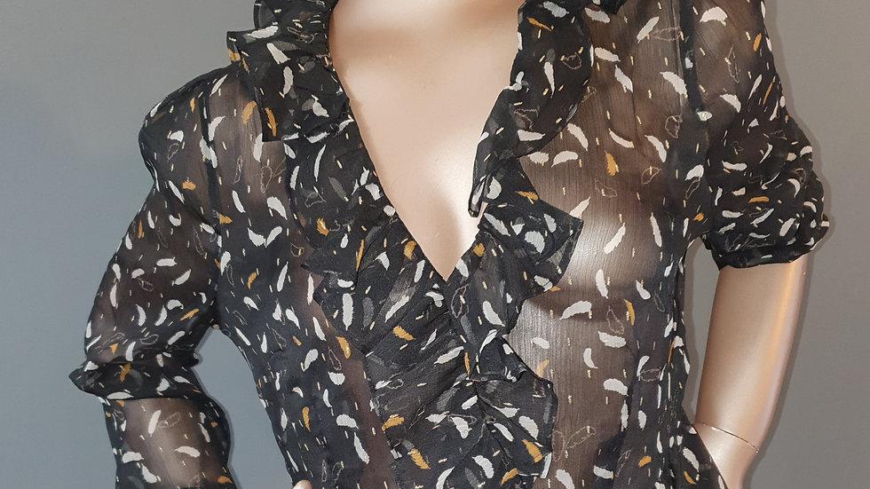Feather Lurex Twist Front Blouse Size 16 RRP £37