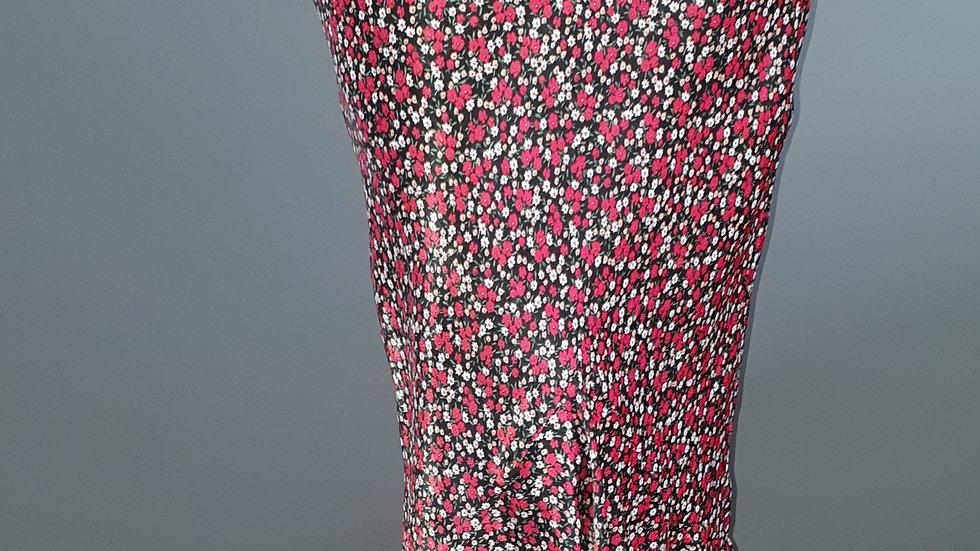 Topshop Floral Flounce Midi Skirt size 10 RRP £44