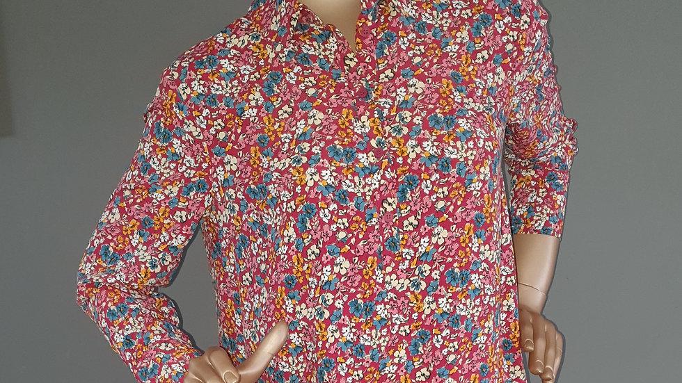 Topshop Smock Peplum Midi Dress Size 10 RRP £50