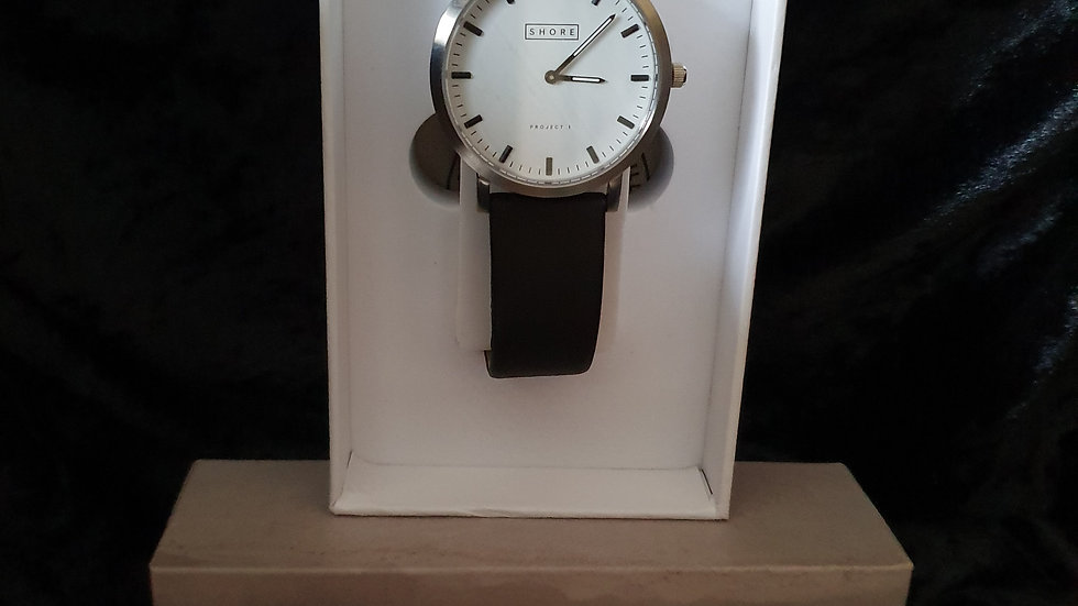 Shore Projects Poole Black & White Watch - RRP £125
