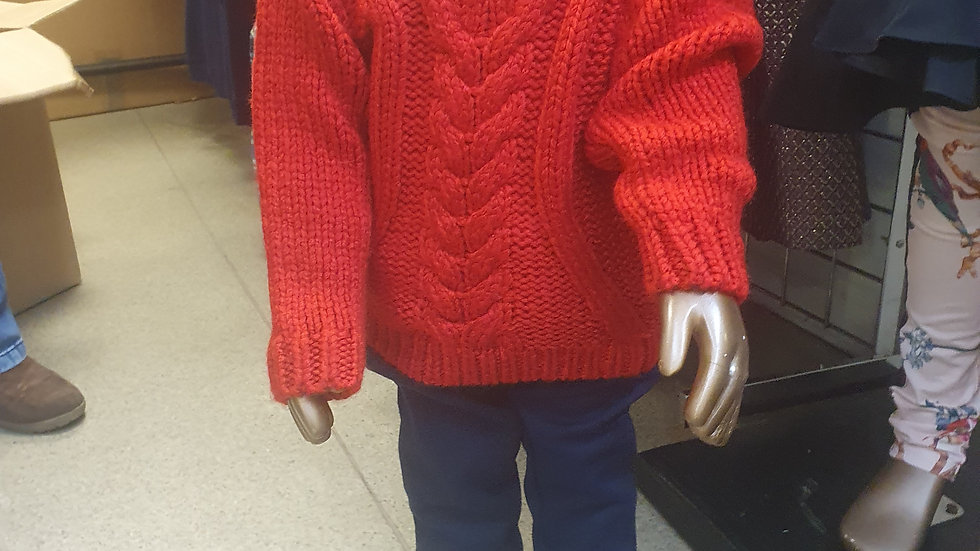 River Island Mini Chunky Cable Knit 9-12 mths RRP £16
