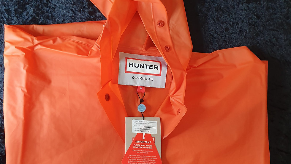 Hunter Kids Vinyl Waterproof Poncho - RRP £75 Size M Only