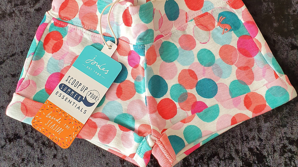 Joules Kitttiwake Spot Jersey Shorts - RRP £17 Age 1 yrs ONLY