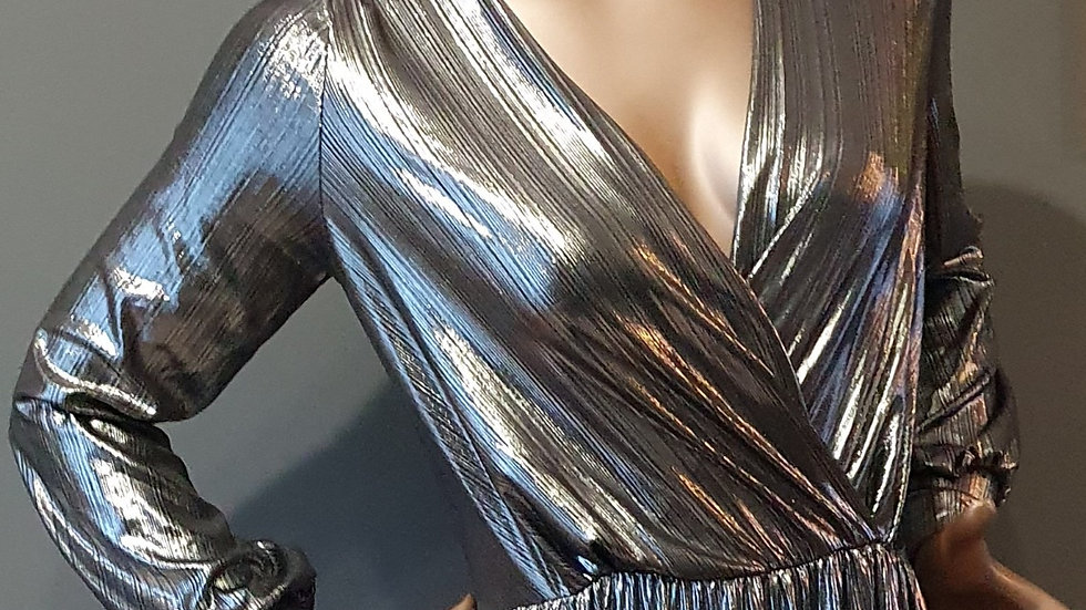 Myleene Klass Deep V Front Metallic Dress - RRP £50 Size 12 ONLY