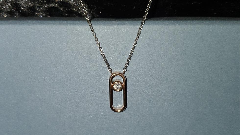 Skagen Elin Rose Gold & Cubic Zirconia Pendant - RRP £45