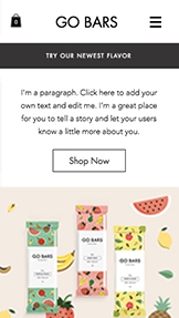 Food & Drinks website templates – Energy Snacks Store