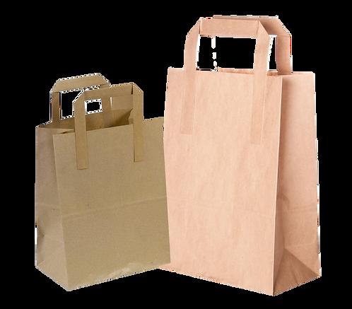 Brown Paper Bag - Large Flat Handle