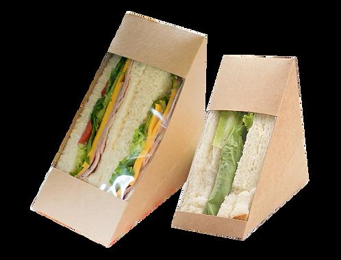 Kraft Triangle Sandwich Box