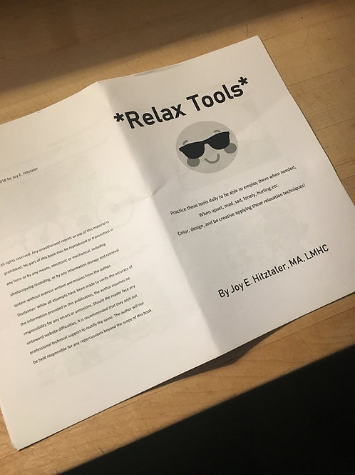 Relax Tools Printable Booklet