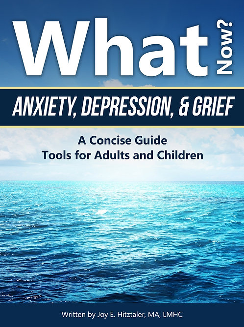 What Now? Anxiety, Depression & Greif: A Concise Guide, Tools for Adults and Chi