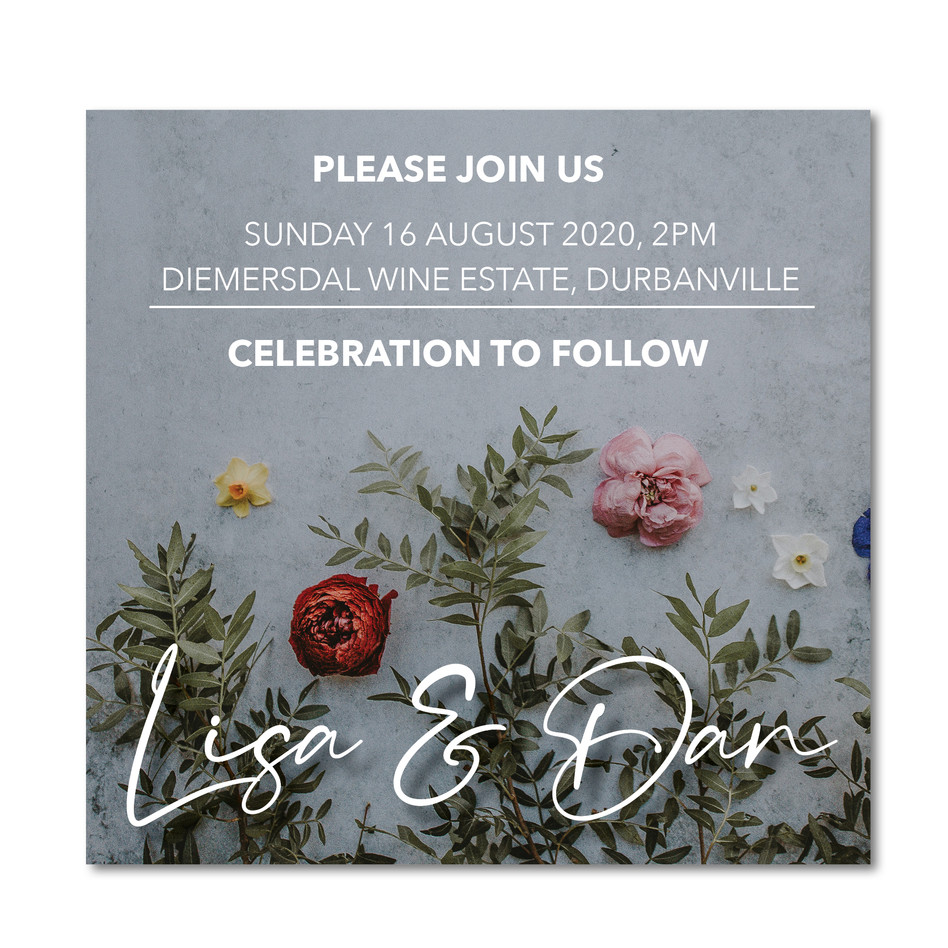 Wedding Invitation - Lisa & Dan Instagra