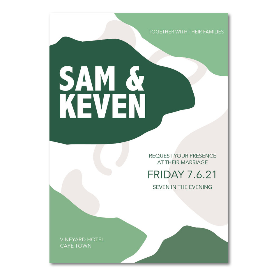 Wedding Invitation - Sam & Keven Instagr