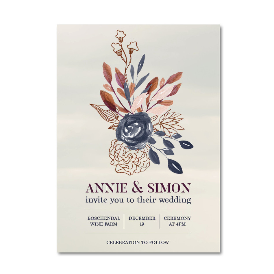 Wedding Invitation - Annie & Simon Insta