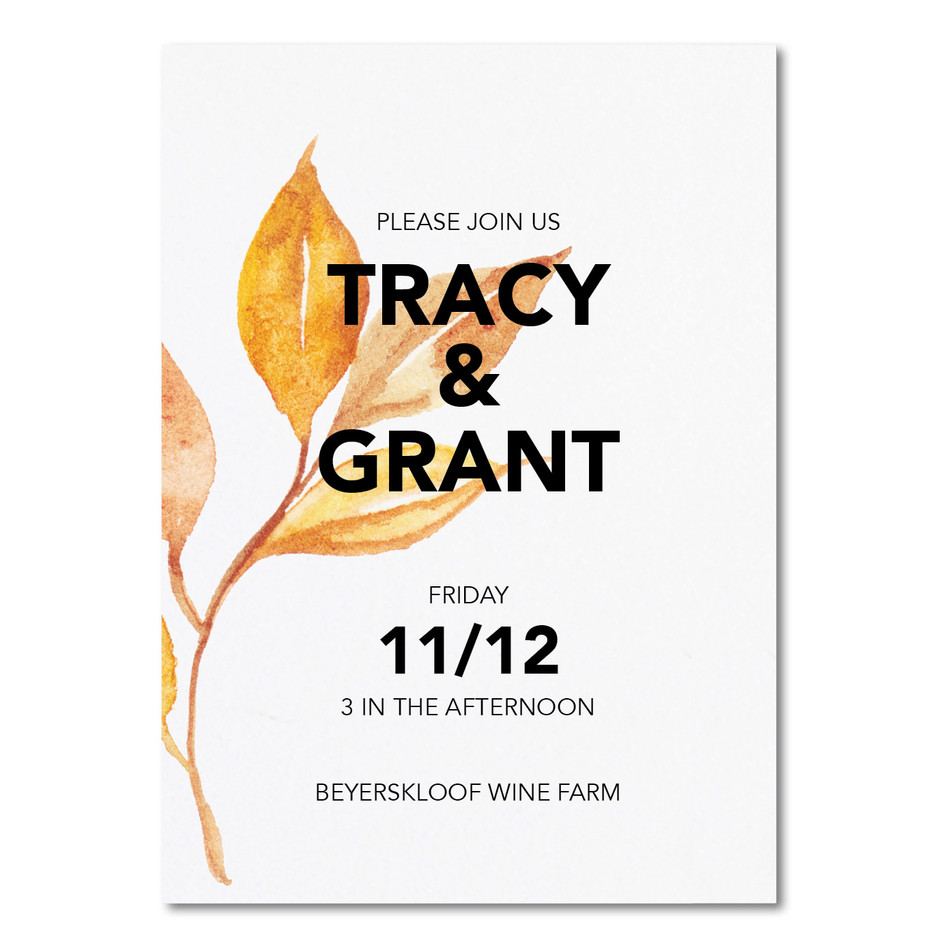 Wedding Invitation - Tracy & Grant Insta
