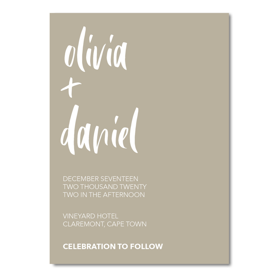 Wedding Invitation - Olivia & Daniel Ins