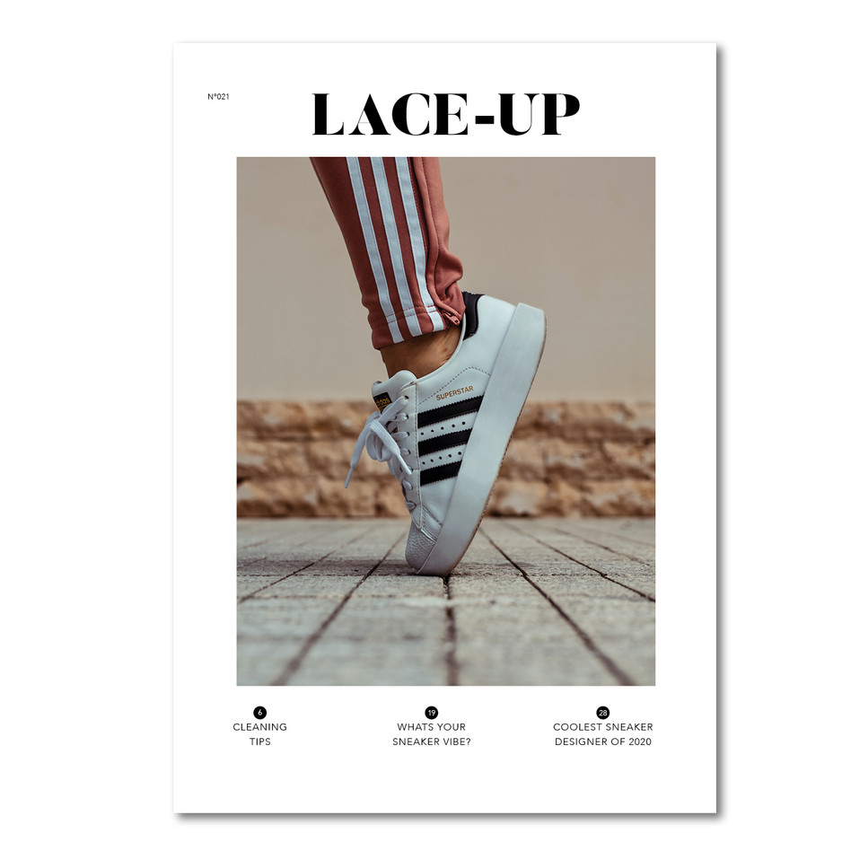 Lace Up Sneaker Magazine Cover Instagram