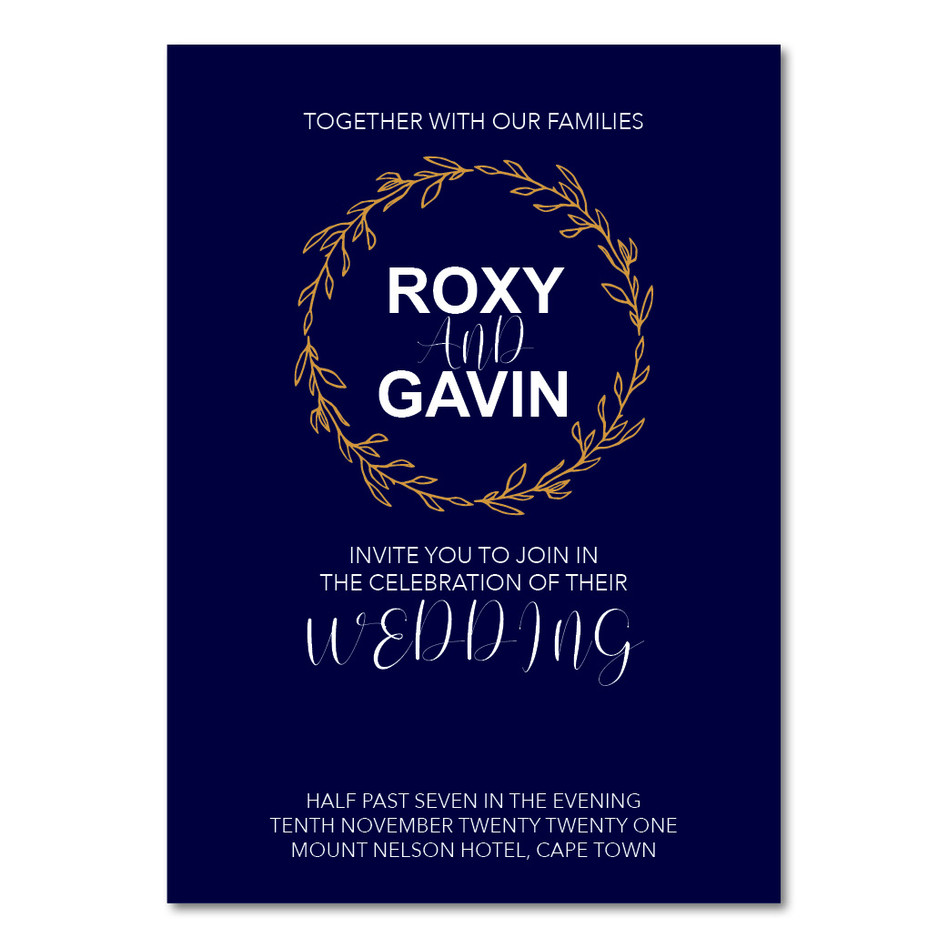 Wedding Invitation - Roxy & Gavin Instag