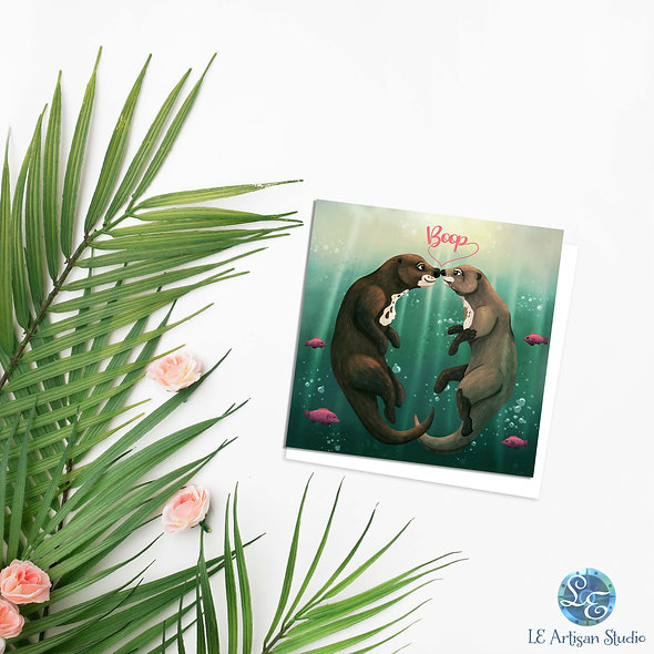 River Otter Love Card