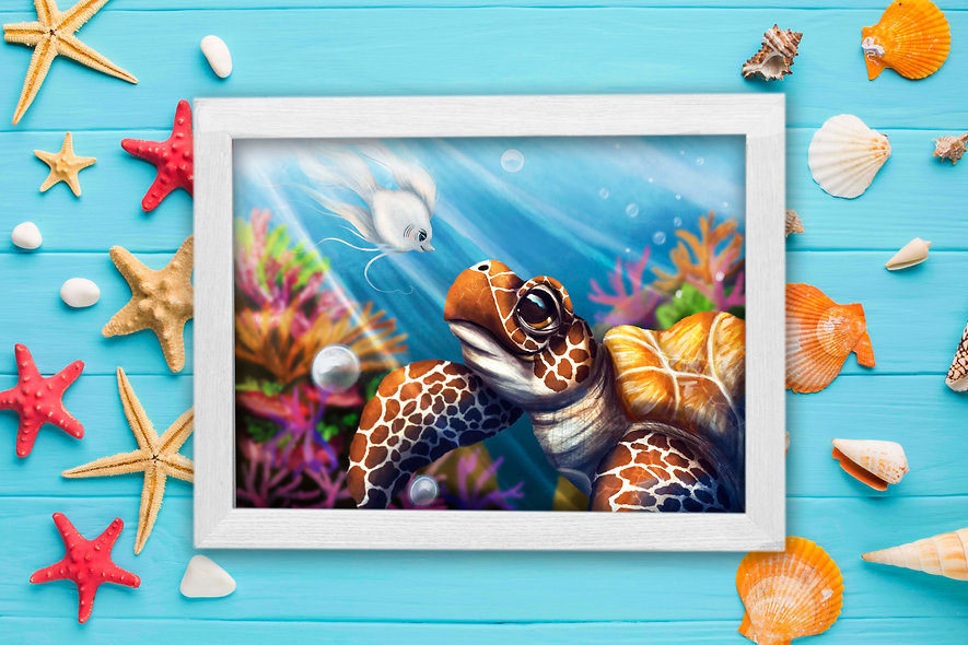 Florida Turtle Painting