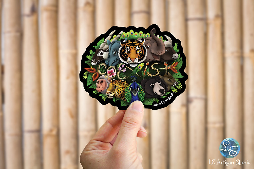 Coexist Animal Sticker