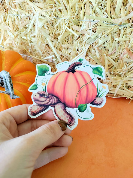 Pumpkin Gopher Tortoise Sticker